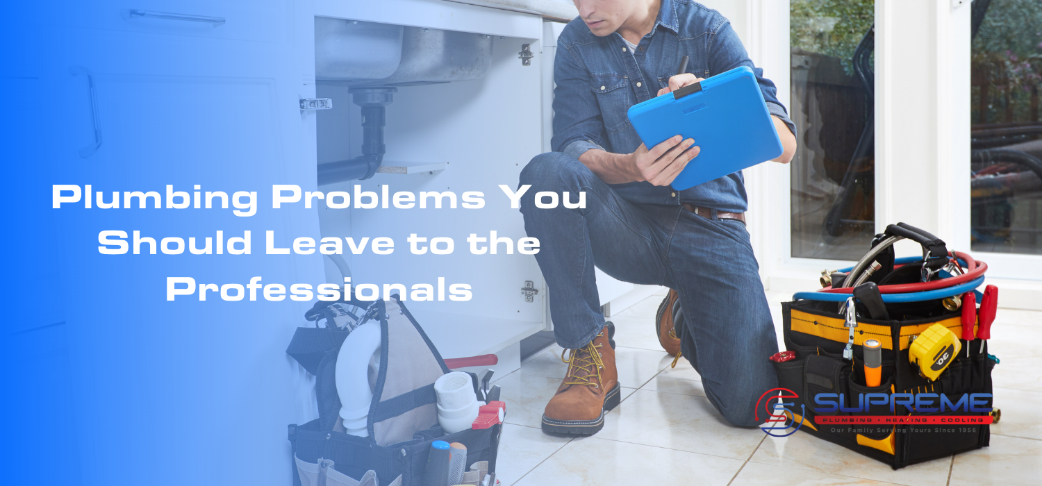 Plumbing Problems You Should Leave to the Professionals Blog Image